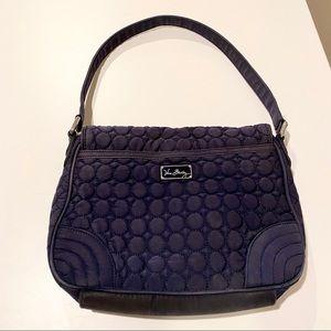 Vera Bradley Navy Blue Medium Shoulder Bag